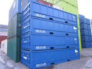 20ft Half Hoog Open Top container huren in Amsterdam