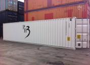 Zeecontainer special 40ft nieuw wit
